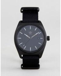 adidas - Z09 Process Canvas Watch In Black - Lyst