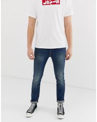 437c0e73 Levi's - 510 Madison Square Skinny Fit Standard Rise Jeans In Midwash Blue  - Lyst