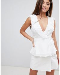 Fashion Union - Wrap Top With Ruffle Detail - Lyst