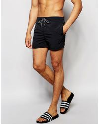 Pull&Bear - Swim Shorts In Black - Lyst