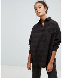 Pull&Bear - Co-ord Shirt Khaki In Green - Lyst