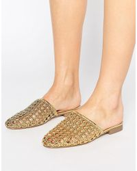 ASOS | Marbles Woven Mules | Lyst