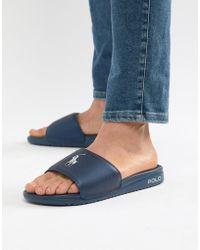 a9ab26ffaafe Polo Ralph Lauren - Rodwell Summer Sliders Large Player In Blue - Lyst