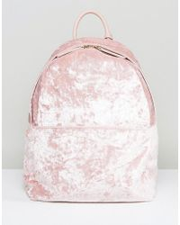 Glamorous | Crushed Velvet Backpack | Lyst