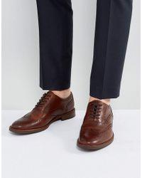 ALDO - Bartolello Leather Brogue Shoes In Tan - Lyst