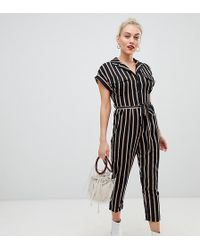 New Look - Utility Pocket Jumpsuit In Black - Lyst