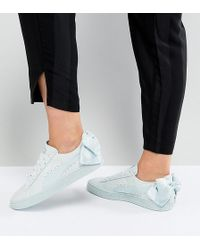 PUMA - Suede Bow Trainers In Light Green - Lyst