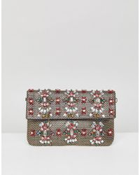 Park Lane | Handmade Beaded Foldover Clutch Bag | Lyst