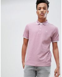 Jack & Jones - Premium Polo Shirt With Tipping - Lyst