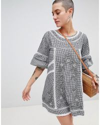 Free People - Sunny Day Embroidered Shift Dress - Lyst