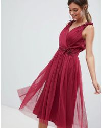Little Mistress - V Neck Prom Dress - Lyst