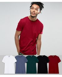 ASOS - Longline T-shirt 5 Pack Save - Lyst