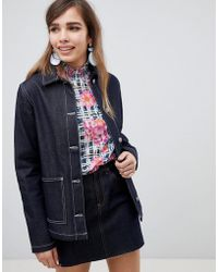 ASOS - Design Denim Utility Jacket In Indigo - Lyst