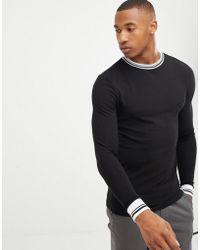 14f29da6 ASOS Oversized Long Sleeve T-shirt In Loose Mesh in Black for Men - Lyst