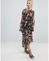 RahiCali - Floral Print Asymmetrical Dress - Lyst