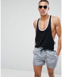 ASOS - Swim Shorts In Get Wavey Print In Short Length - Lyst
