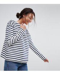 ASOS - Stripe Top In Baby Loop Back - Lyst