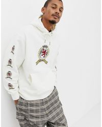 94102185 Tommy Hilfiger - 6.0 Limited Capsule Hoodie With Repeat Crest Logo In White  - Lyst