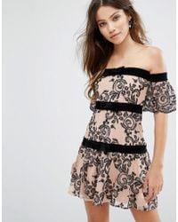 For Love & Lemons - Clemence Off Shoulder Dress - Lyst