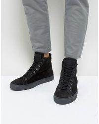 AllSaints - High Top Trainer - Lyst