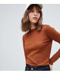 Weekday - Fine Jersey Long Sleeve Top - Lyst