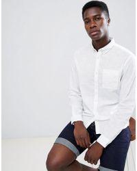 Produkt - Slim Fit Linen Mix Shirt - Lyst