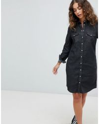 Levi's - Levi's Ultimate Denim Western Dress - Lyst