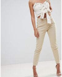 Missguided - Riot High Waisted Mom Jeans - Lyst