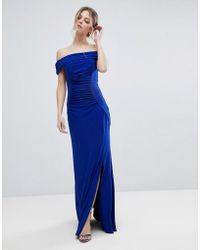 Coast - Shay Slinky Jersey Bardot Maxi Dress - Lyst