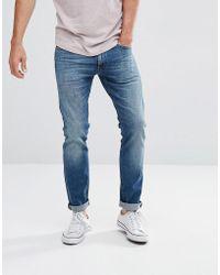 aaefe685 Lee Jeans Jeans Luke Skinny Fit Jeans In Dark Used Blue in Blue for ...