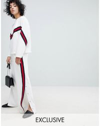 EVIDNT - Side Split Trackpant With Tape Trim - Lyst