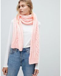 Hollister - Cable Knit Scarf - Lyst