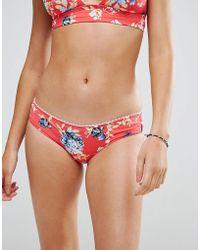 Rip Curl - Rip Curl Floral Cheeky Bikini Bottom - Lyst