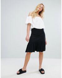 Pull&Bear - Ruffle Hem Skirt - Lyst