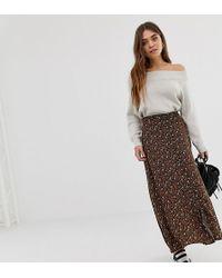 13d03e0157 Pull&Bear - Maxi Skirt In Ditsy Print - Lyst