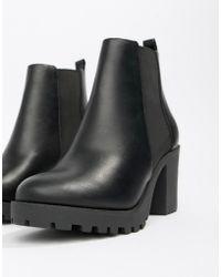Faith - Baker Chunky Heeled Chelsea Boots In Black - Lyst