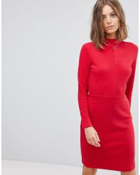 Esprit - High Neck Fitted Dress - Lyst