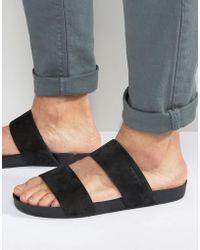 Vagabond - Funk Double Strap Slip On Sandals - Lyst