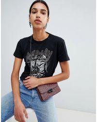 Replay - - Rock Studes Logo Girfriend T- Shirt - Lyst