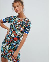 Daisy Street - Floral Dress With Tape Sleeve Detail - Lyst