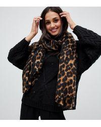 Stitch & Pieces - Leopard Scarf - Lyst