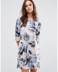 SELECTED - Femme Printed 3/4 Dress - Lyst