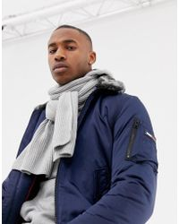 Tommy Hilfiger - Pima Cotton Cashmere Scarf In Gray Marl - Lyst