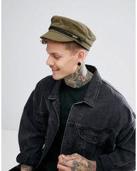 Pretty Green - Suede Lenon Hat In Khaki - Lyst