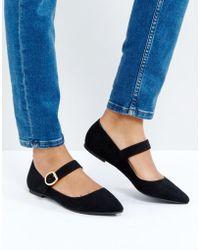 London Rebel - Mary Jane Buckle Flat Shoe - Lyst
