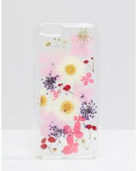 Monki - Pressed Flowers Iphone 6 Case In Floral - Lyst