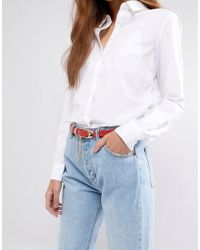 ASOS - Red Skinny Chain Waist And Hip Belt - Lyst