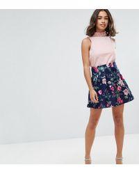 ASOS | Scuba Lantern Mini Skirt In Print | Lyst