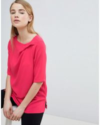 Louche - Ruched Front Shell Top - Lyst