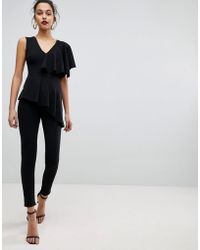 Club L - Frill Tiered Sleeve Jumpsuit - Lyst